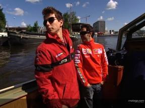 MotoGP quartet enjoy Amsterdam visit