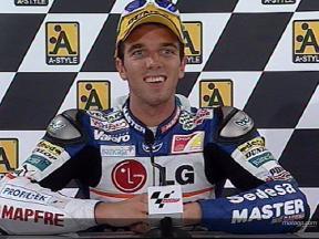 Alex DE ANGELIS tras la carrera