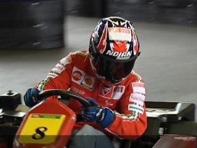 Stoner enjoys Sachsenring karting
