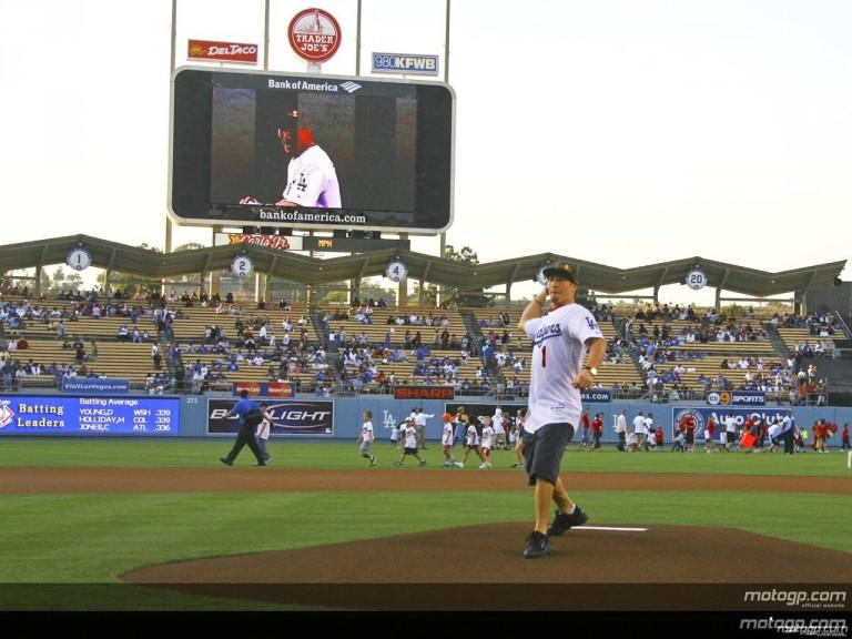Hayden Visit Dodger Stadium