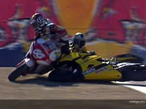 HOFMANN and GUINTOLI crash during FP1