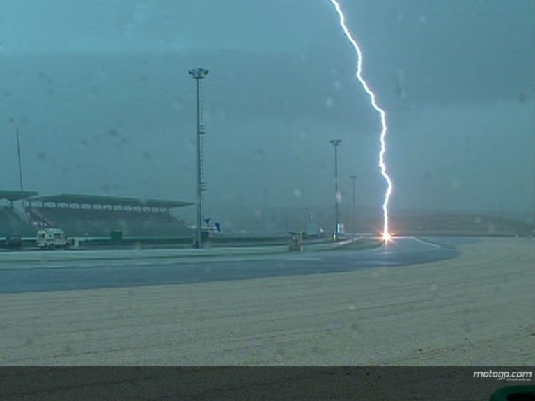 Downpours ruin Misano Friday
