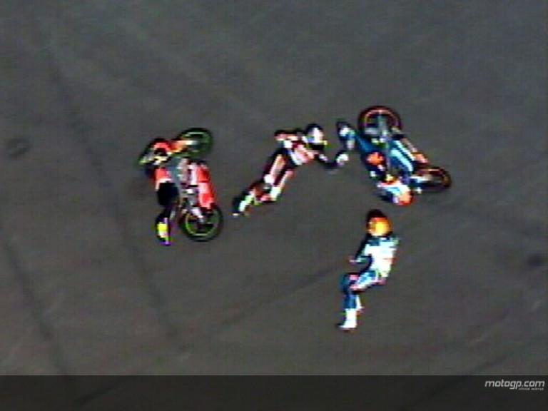 FAUBEL and CORSI crash during race