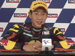 Tomoyoshi KOYAMA after race