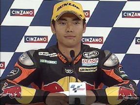 Hiroshi AOYAMA  after race