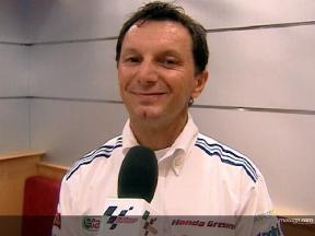 Fausto Gresini signs De Angelis