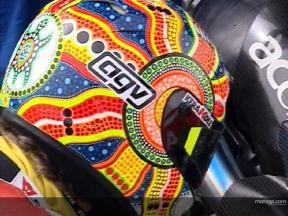 Nuevos cascos para Rossi y Stoner