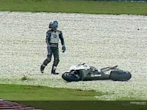 Shinya NAKANO crash during FP2