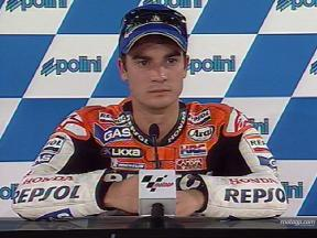 PEDROSA happy with third pole in a row