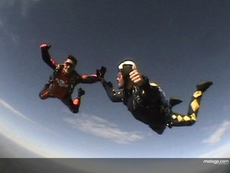 Checa sky dives ahead of last race