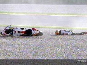 Caída de DAVIES durante la FP1