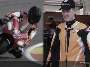 Schumacher, sobre dos ruedas en Valencia