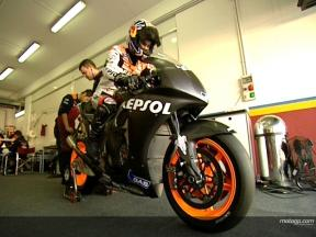 Dani PEDROSA at Valencia test