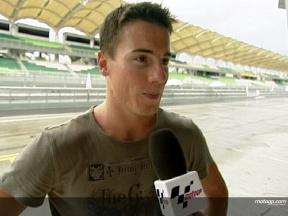 Toseland happy with first day