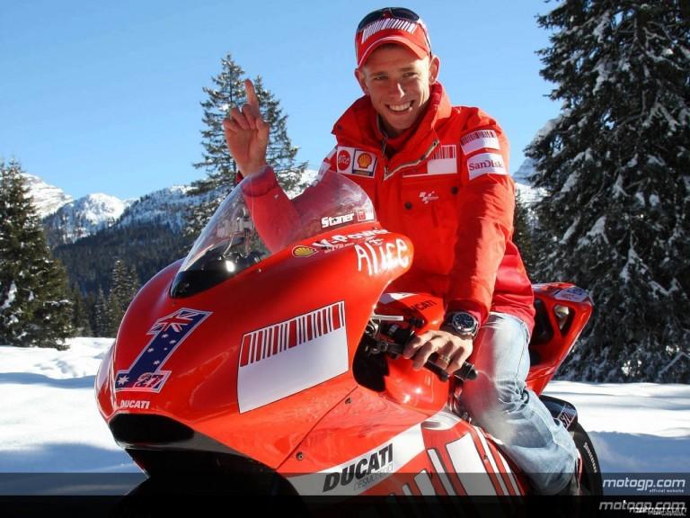 Ducati Marlboro launch 2008 campaign at Madonna di Campiglio