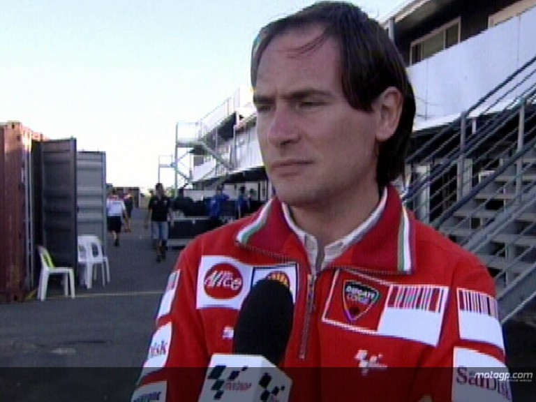 Cristhian Pupulin. Ducati MarlboroTechnical Coordinator