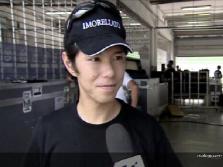 Nakano on Sepang testing