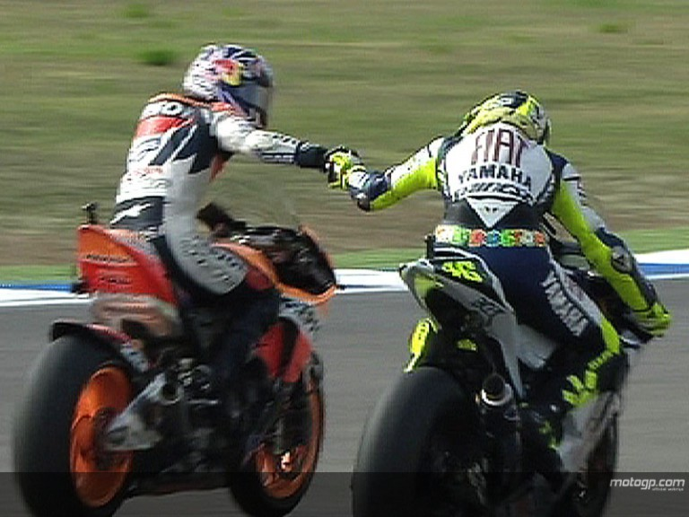 Pedrosa v.s. Rossi in Portugal