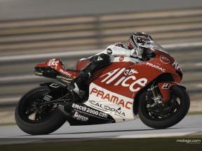 Sylvain Guintoli on his Ducati at Losail