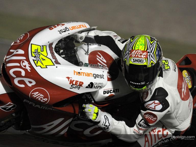 Toni Elias on his Ducati at Losail