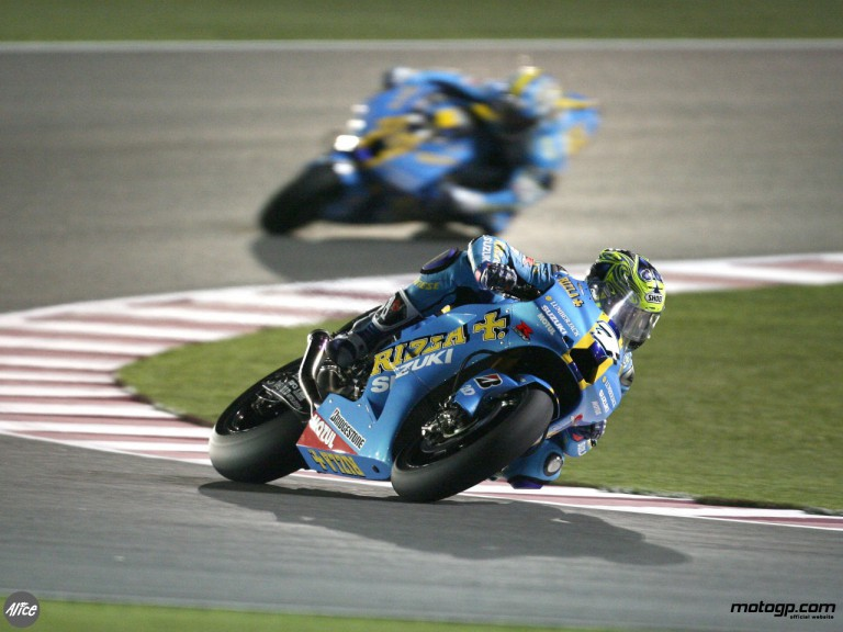 Vermeulen and Capirossi in Free Practice 2 at Losail