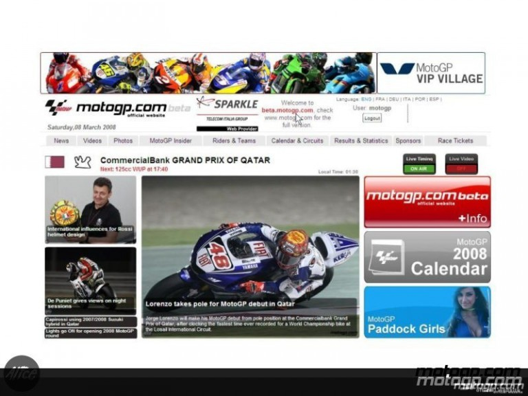 2008 motogp.com beta version now online