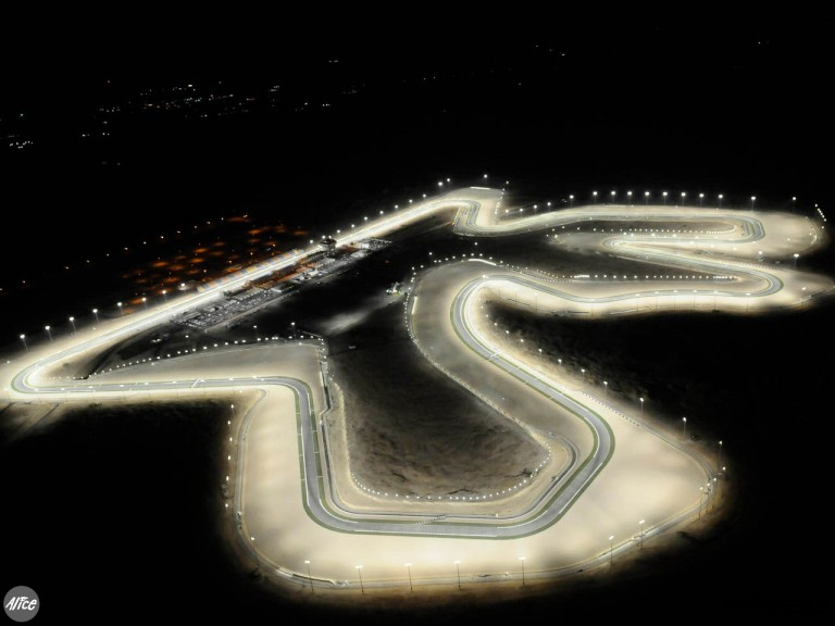 Losail circuit overview at night