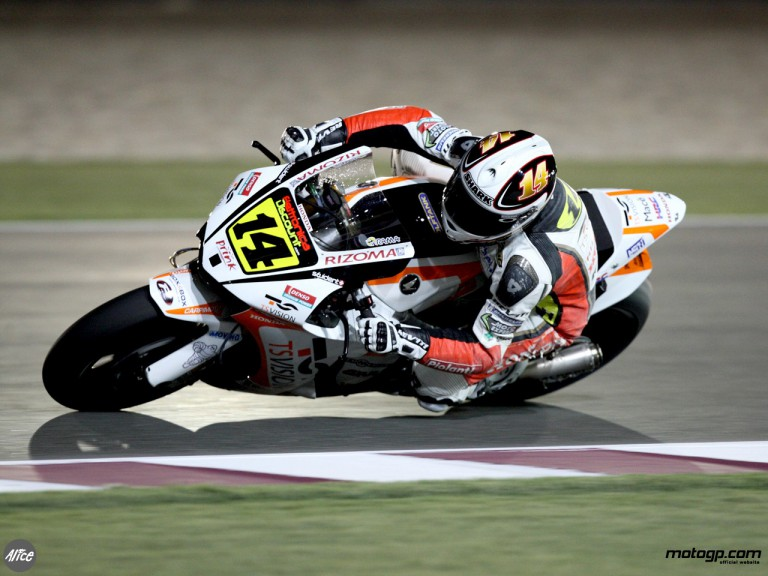De Puniet during Qatar night race 090308