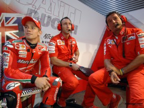 Stoner and his crew in Qatar
