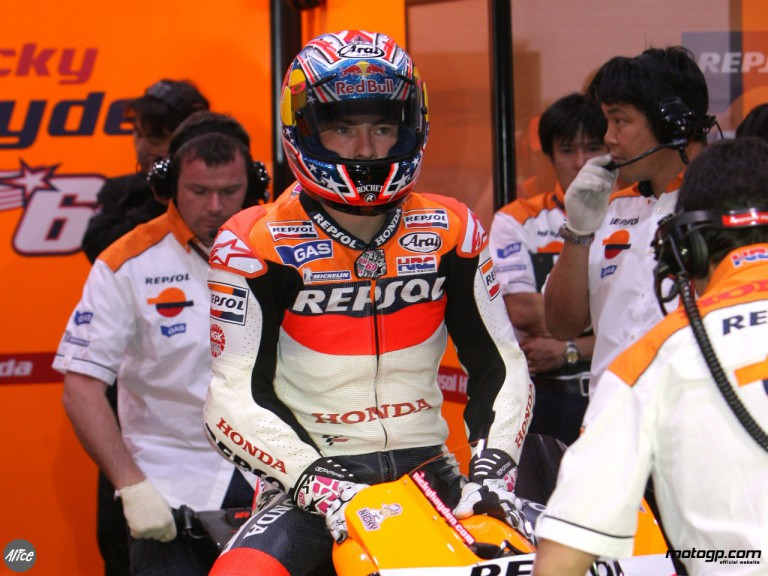 Hayden set to leave the Repsol Honda box at Losail