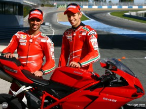 Stoner and Melandri at Bridgestone launch in Jerez