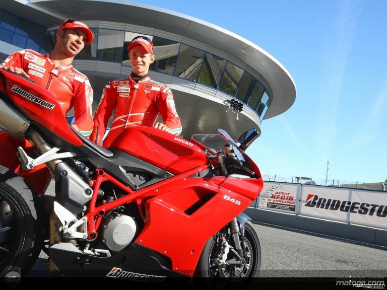 Bridgestone MotoGP riders attend Jerez launch