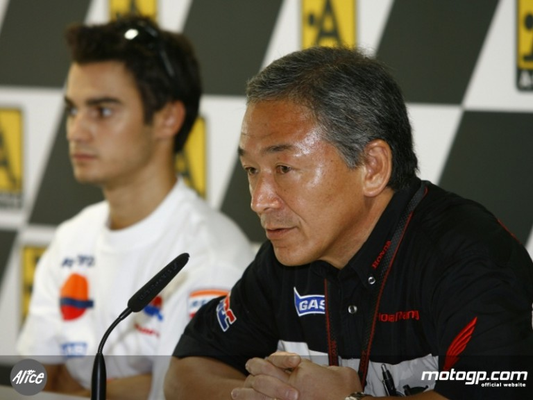 HRC Director Masumi Hamane and Dani Pedrosa