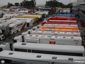 The Jerez paddock ahead of the Spanish GP