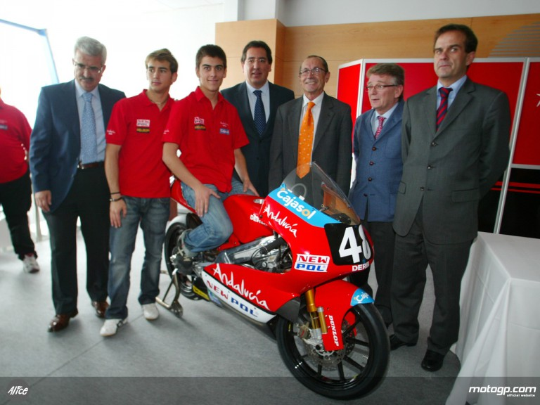 Andalucia Derbi team presentation at Jerez