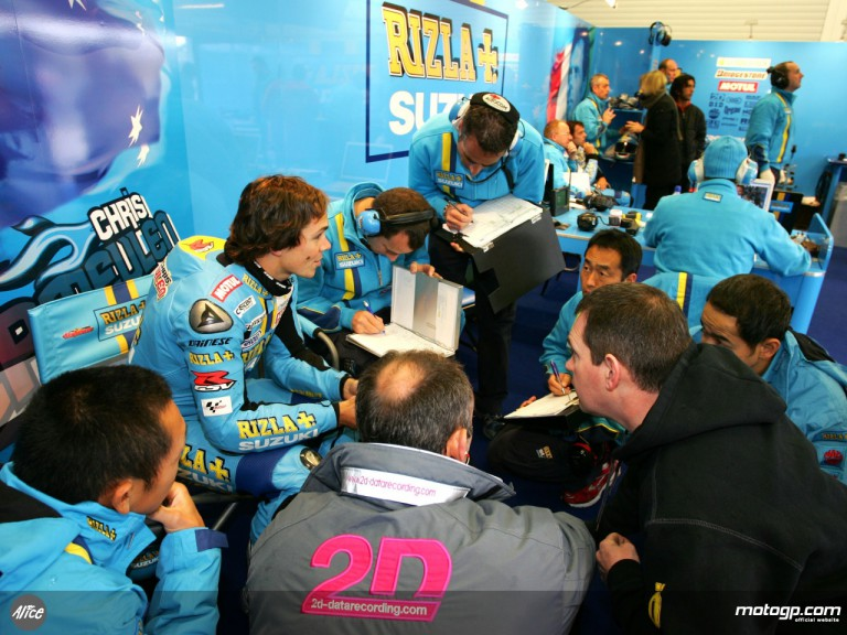 Inside the Rizla Suzuki box