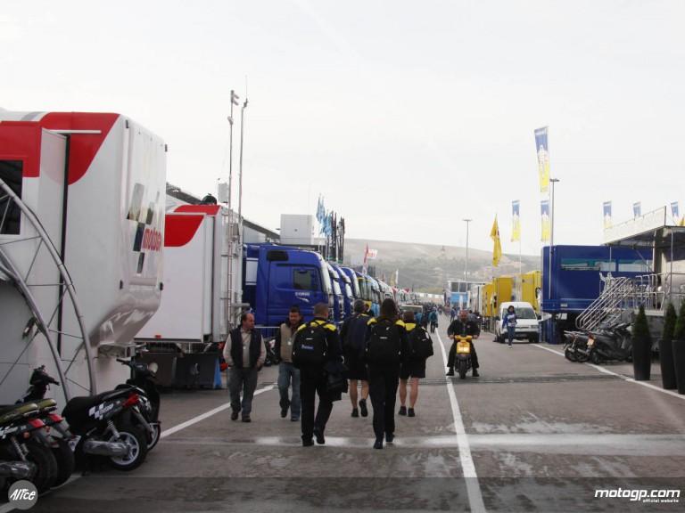 Jerez paddock on day 2 of the Spanish GP