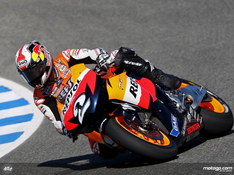 Pedrosa MotoGP Free Practice 3 at Jerez