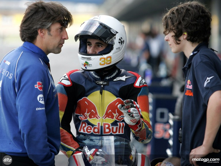 Luis Salom, winner of the first Red Bull MotoGP Rookies Cup round at Jerez