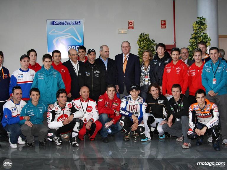 HRH Juan Carlos I takes in MotoGP experience
