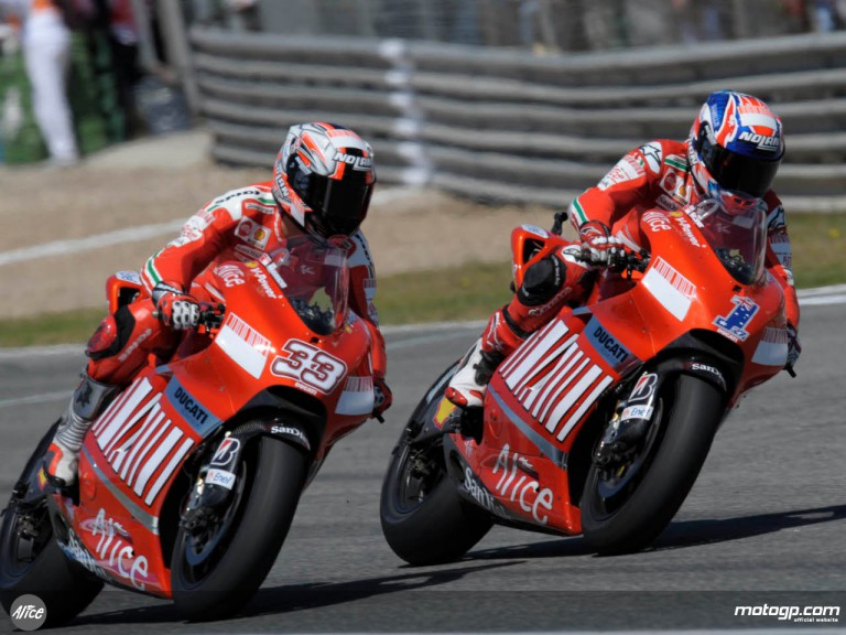 Stoner and Melandri at Jerez