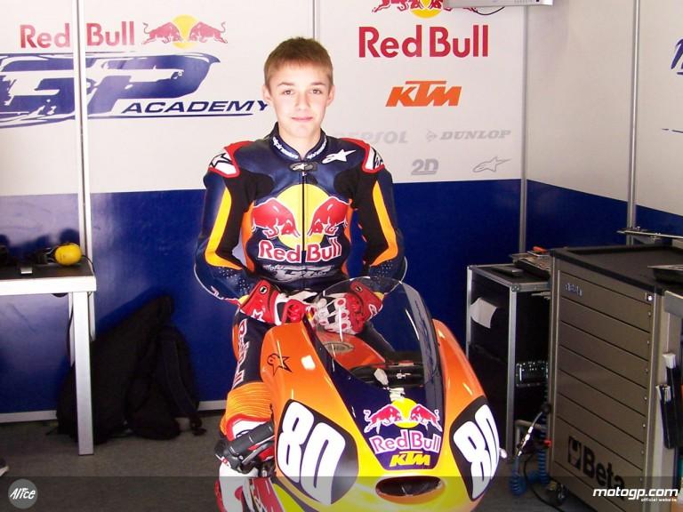 Red Bull MotoGP Academy rider Jonas Folger at le Mans