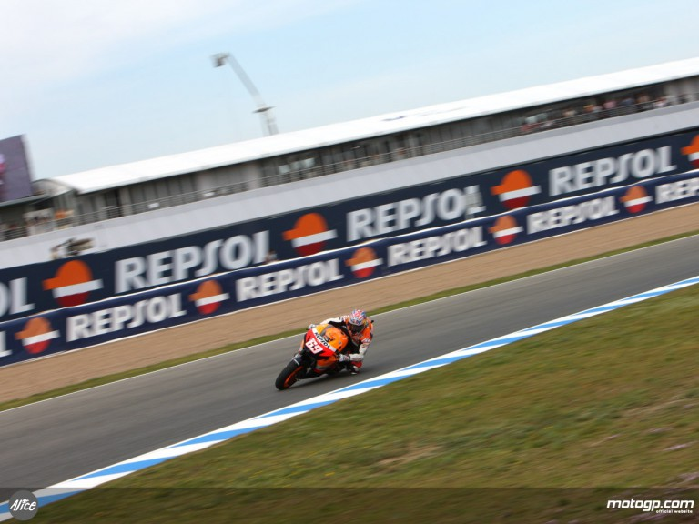 Repsol Honda former world champion Nicky Hayden at Jerez