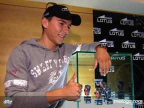 Lorenzo at Lotus presentation in Barcelona