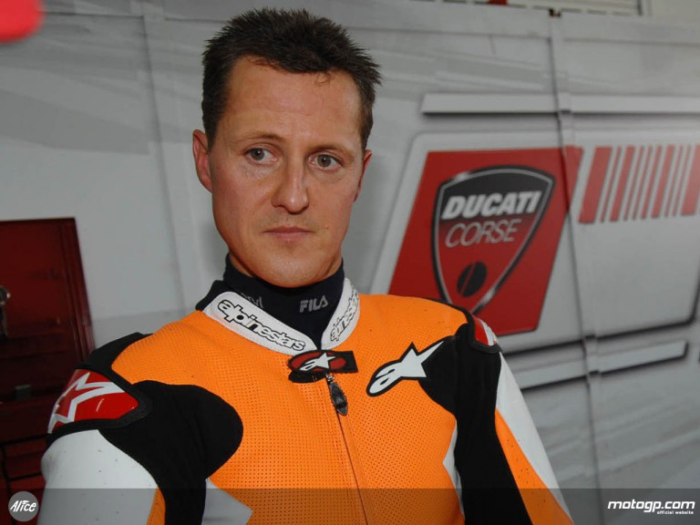 F1 star Michael Schumacher joins Ducati Corse for private test