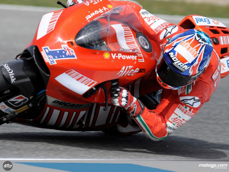 Casey Stoner at the Spanish GP in Jerez