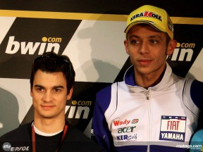 Pedrosa and Rossi in press conference in Estoril