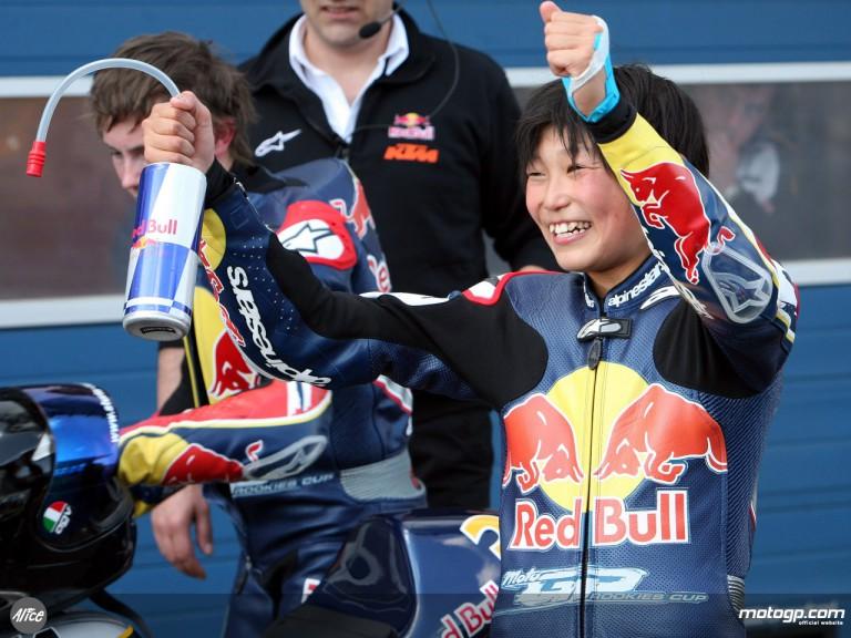 Hiura takes maiden Red Bull MotoGP Rookies win at Estoril