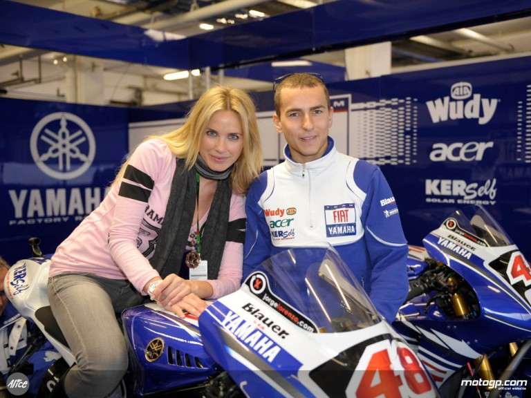 Spanish model and actress Vanessa Romero with Jorge Lorenzo