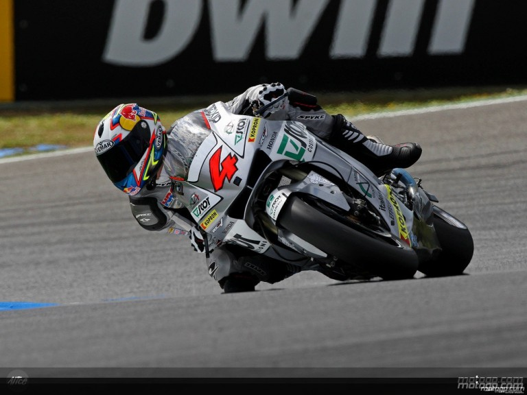 Andrea Dovizioso in action in Estoril (MotoGP)